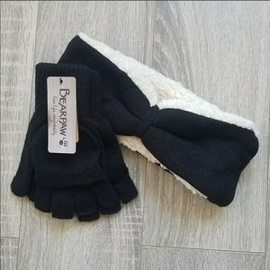 Bearpaw headband and mitten gloves